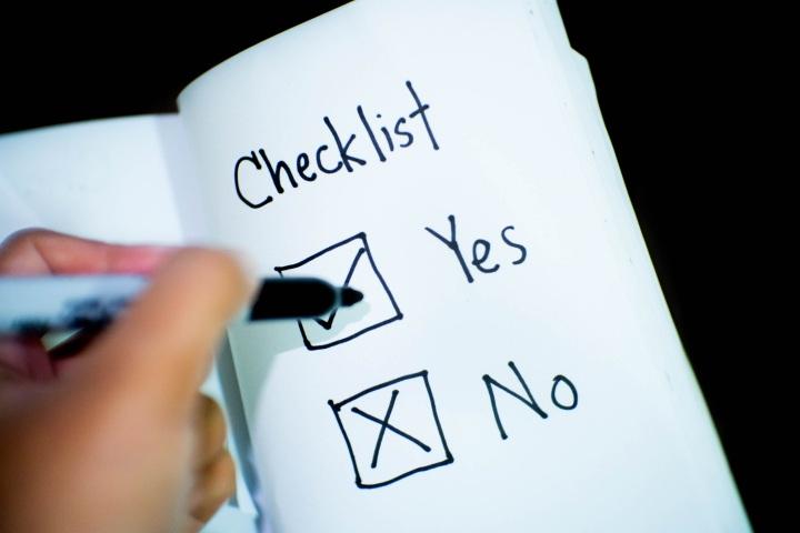 Lab Manager's checklist